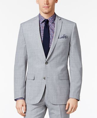 Bar III Men's Light Gray Slim Fit Jacket, Created for Macy's