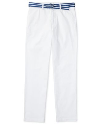 Image of Ralph Lauren Striped Belt and Twill Pants, Big Boys (8-20)