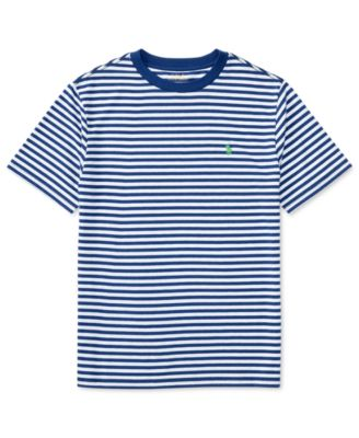 Image of Ralph Lauren Striped Cotton Jersey T-Shirt, Big Boys (8-20)