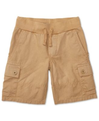 Image of Ralph Lauren Cotton Pull On Cargo Shorts, Toddler & Little Boys (2T-7)