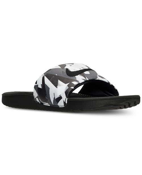 f2fa1419f08b Nike Men s Kawa Print Slide Sandals from Finish Line   Reviews ...