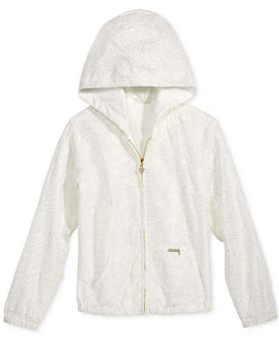 GUESS Eyelet Zip-Up Hoodie, Big Girls (7-16)