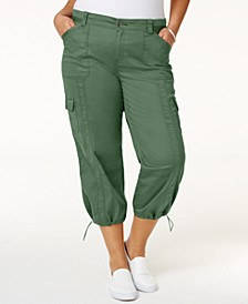 Plus Size Capri Cargo Pants, Created for Macy's