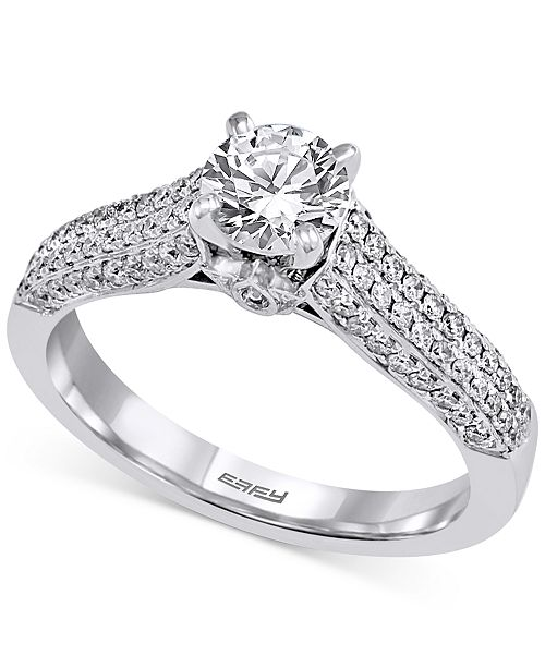 EFFY Collection EFFY® Diamond Pavé Engagement Ring (1 ct. t.w.) in 14k White Gold