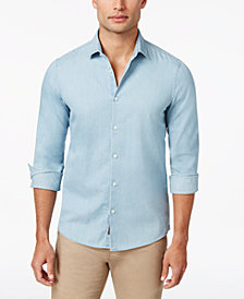 Michael Kors Men's Denim Shirt, Created for Macy's