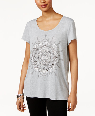 style co petite exploded lotus graphic t shirt only at