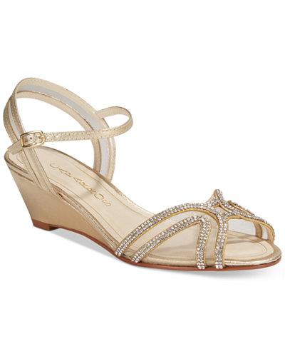 Caparros Hilton Wedge Evening Sandals