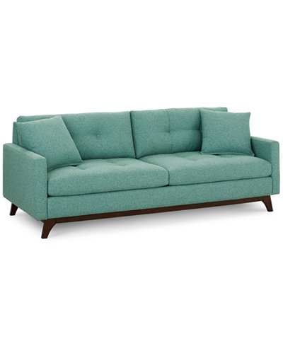 Nari Tufted Back Sofa with 2 Toss Pillows, Created for Macy's - Nari Tufted Back Sofa With 2 Toss Pillows, Created For Macy's