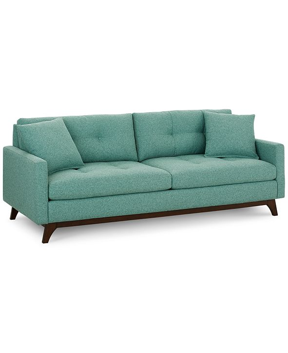 "Furniture Nari 89"" Fabric Tufted Estate Sofa, Created for Macy's"