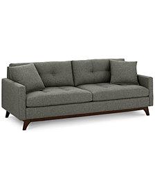 "Nari 83"" Fabric Tufted Sofa - Custom Colors, Created for Macy's"