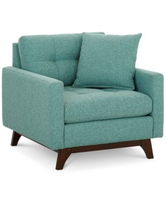 Nari Tufted Back Arm Chair with 1 Toss Pillow Created for Macyu0027s  sc 1 st  Macyu0027s : mid century modern sectional sofa - Sectionals, Sofas & Couches