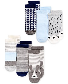 First Impressions Baby Boys 6-Pk. Crew Socks, Created for Macy's