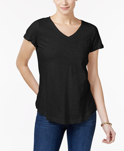Style & Co Cotton T-Shirt, Created for Macy's