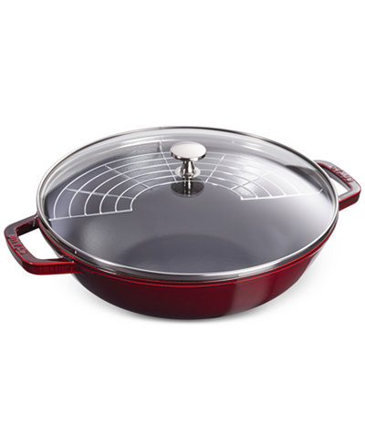 Staub enameled cast iron 4 5 qt perfect pan with lid for Perfect kitchen cookware
