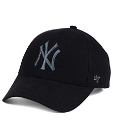'47 Brand New York Yankees MVP Black and Charcoal Cap