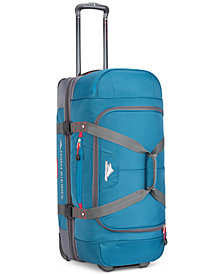 "High Sierra Decatur 28"" Drop-Bottom Wheeled Duffel, Created for Macy's"