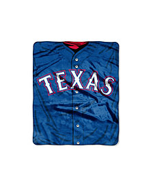 Northwest Company Texas Rangers Plush Jersey Throw Blanket