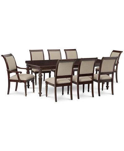 Syrah Dining Furniture, 9-Pc. Set (Dining Table, 6 Side Chairs & 2 Arm Chairs)