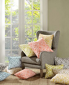 "Delray Diamond-Print 20"" Square Pair of Decorative Pillows"