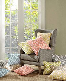 "Madison Park Delray Diamond-Print 20"" Square Pair of Decorative Pillows"