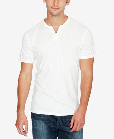 Lucky Brand Men's Split-Neck Cotton T-Shirt - T-Shirts - Men - Macy's