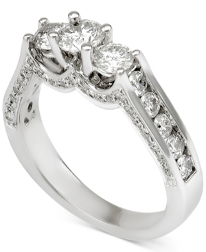 Diamond Three-Stone Channel-Set Engagement Ring (1-1/2 ct.
