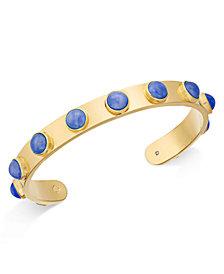 kate spade new york Gold-Tone Bezel Stone Cuff Bracelet