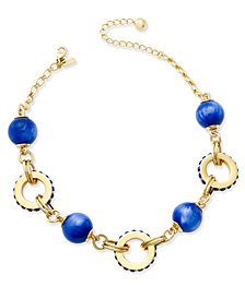 kate spade new york Gold-Tone Blue Statement Necklace