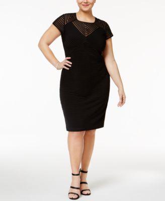 Black dresses for plus size women cheap
