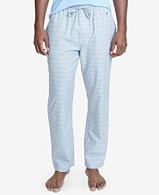 Men's Windowpane Plaid Cotton Pajama Pants