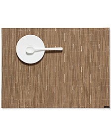 "Bamboo Woven Vinyl Placemat 14"" x 19"""
