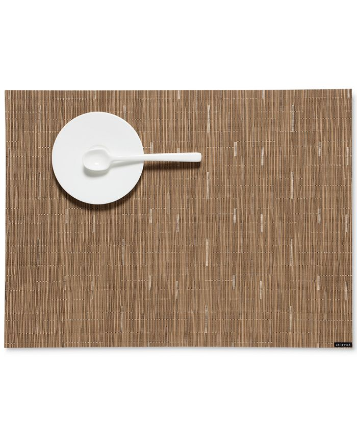 """Chilewich - Bamboo Woven Vinyl Placemat, 19"""" x 14"""""""