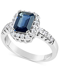 Sapphire (1-3/4 ct. t.w.) and Diamond (1/3 ct. t.w.) Ring in 14k White Gold