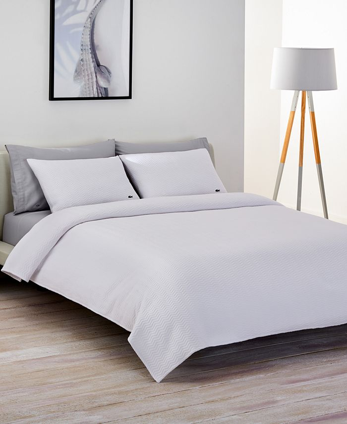 Lacoste Home - Cotton Chevron Quilted Twin Coverlet