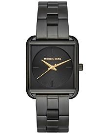 michael kors watches macy s michael kors women s lake black stainless steel bracelet watch 32x32mm mk3666 a macy s exclusive style
