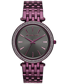 Michael Kors Women's Darci Plum Stainless Steel Bracelet Watch 39mm MK3554 - Limited Edition