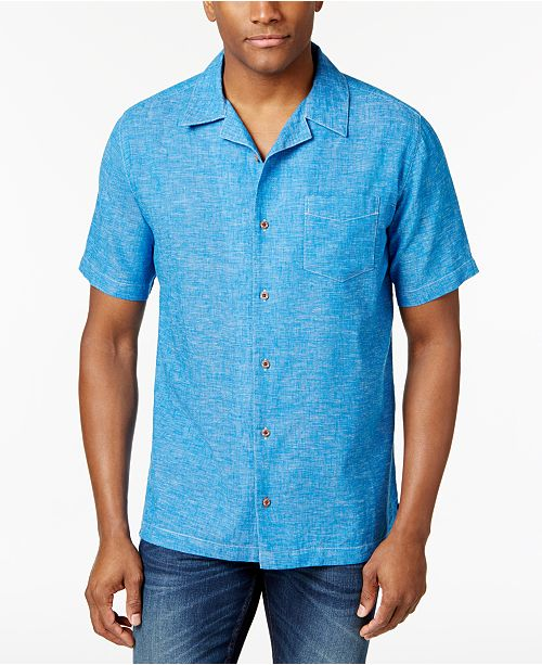 Weatherproof vintage men 39 s linen chambray shirt casual for Weatherproof vintage men s lightweight flannel shirt