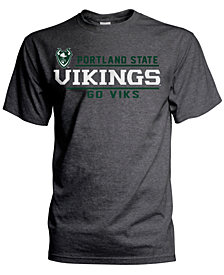 J America Men's Portland State Vikings Verbiage Stack T-Shirt