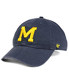 '47 Brand Michigan Wolverines CLEAN UP Cap