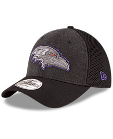 New Era Baltimore Ravens Black Heather Neo 39THIRTY Cap