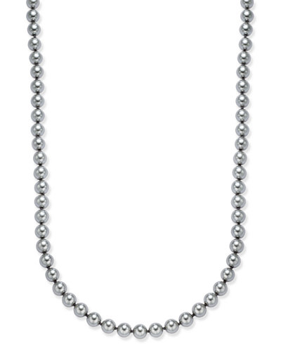 Charter Club Gray Imitation Pearl Strand Necklace, Created for Macy's
