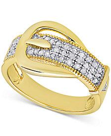 Diamond Buckle Ring (1/4 ct. t.w.)