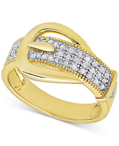 Diamond Buckle Ring 1 4 Ct T W Rings Jewelry