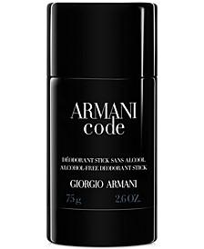 Giorgio Armani Code Deodorant, 2.6 oz.