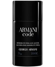 Giorgio Armani Armani Code Deodorant, 2.6 oz.