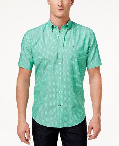 Tommy Hilfiger Men's Delaware Brush Print Cotton Shirt - Casual ...