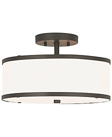 Livex Park Ridge Metal 13'' Semi Flush Ceiling Light