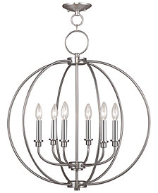 Livex Milania 6- Light Metal Chandelier