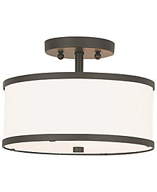 Livex Park Ridge Metal 11'' Semi Flush Mount
