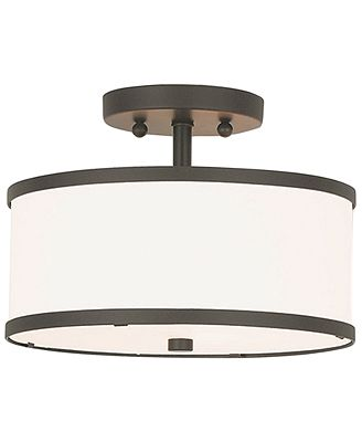 Livex park ridge metal 11 semi flush mount